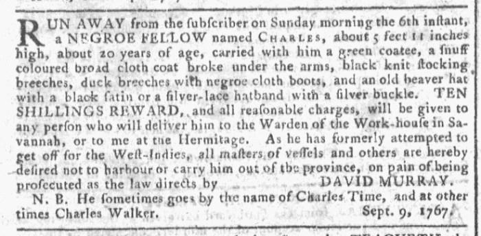 Oct 7 - 10:7:1767 Georgia Gazette