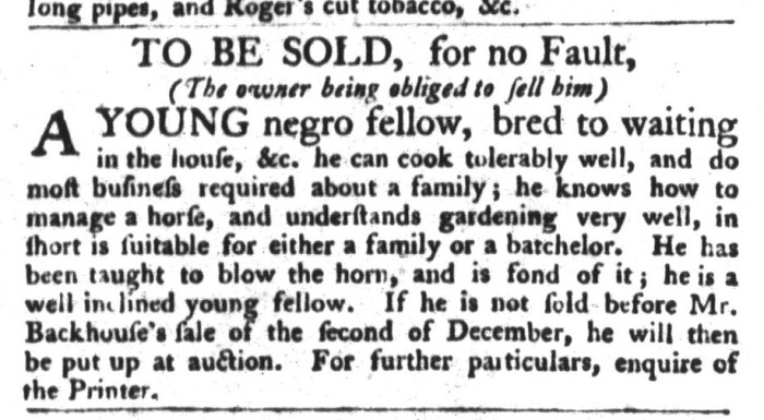 Dec 1 - South-Carolina Gazette and Country Journal Supplement Slavery 6