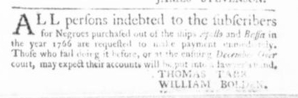 Dec 10 - Virginia Gazette Slavery 3