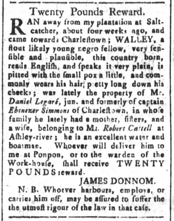 Dec 11 - South-Carolina and American General Gazette Slavery 2