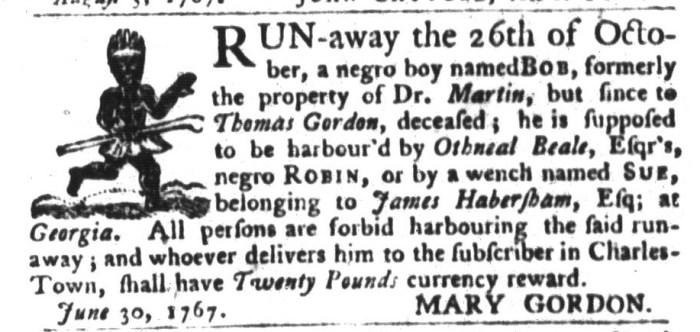 Dec 15 - South-Carolina Gazette and Country Journal Slavery 3