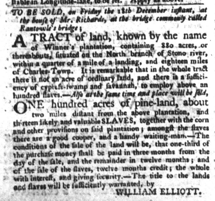 Dec 15 - South-Carolina Gazette and Country Journal Slavery 5