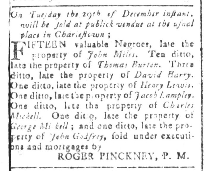 Dec 18 - South-Carolina and American General Gazette Slavery 3