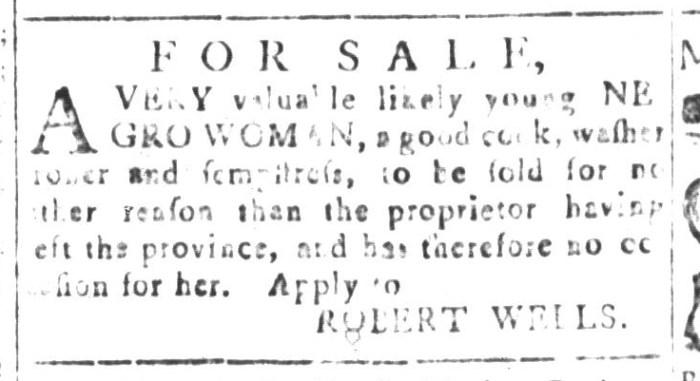 Dec 18 - South-Carolina and American General Gazette Slavery 7