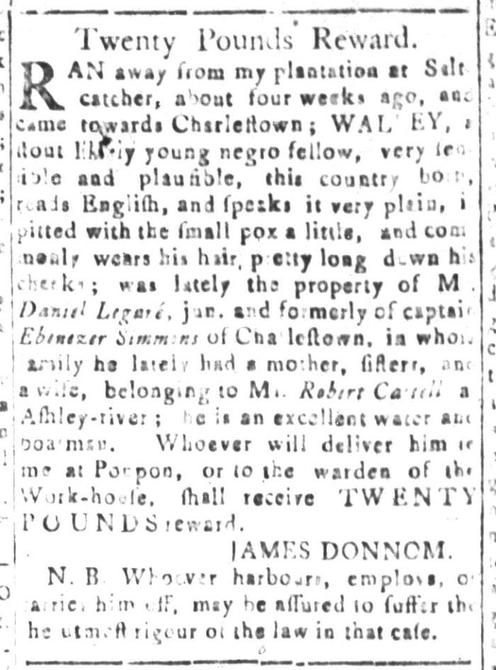 Dec 18 - South-Carolina and American General Gazette Slavery 9