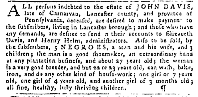 Dec 24 - Pennsylvania Gazette Slavery 2