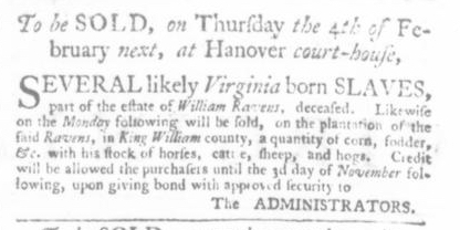 Dec 24 - Virginia Gazette P&D Slavery 7