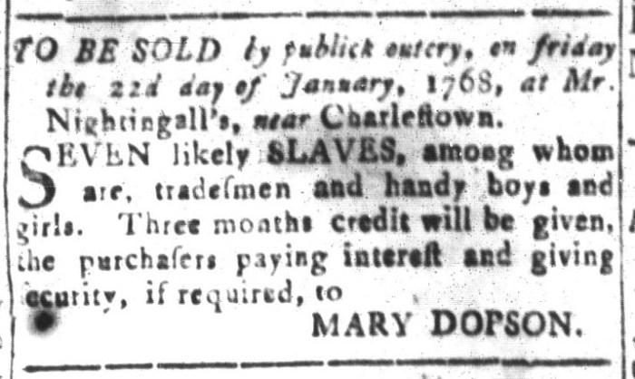 Dec 25 - South-Carolina and American General Gazette Slavery 12