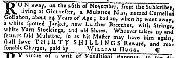Dec 3 - Pennsylvania Gazette Slavery 3
