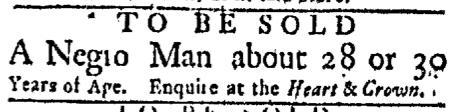 Dec 7 - Boston Evening Post Slavery 1