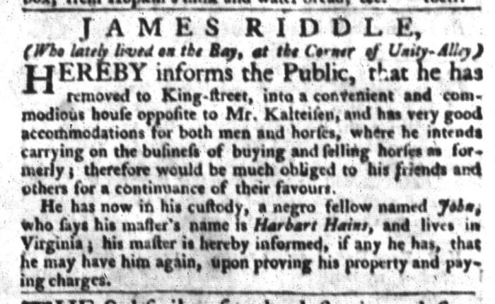 Dec 8 - South-Carolina Gazette and Country Journal Slavery 3
