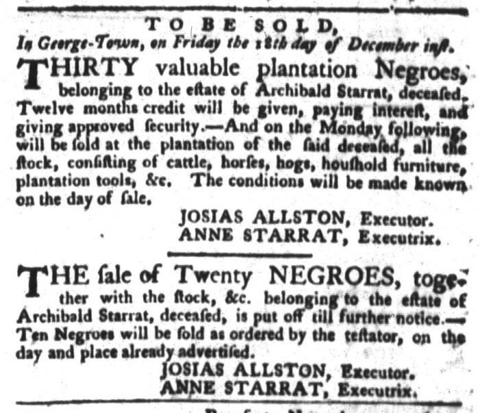 Dec 8 - South-Carolina Gazette and Country Journal Slavery 5