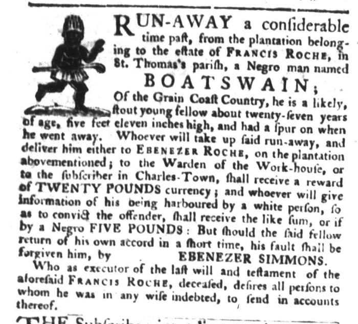 Dec 8 - South-Carolina Gazette and Country Journal Supplement Slavery 6