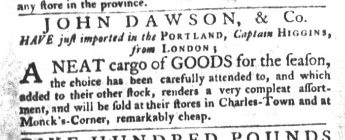 Nov 10 - 11:10:1767 South-Carolina Gazette and Country Journal