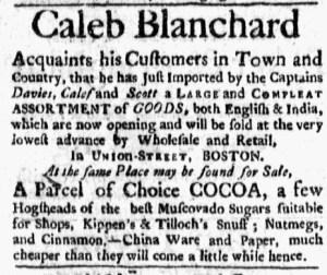 Nov 2 - 11:2:1767 Boston Evening-Post