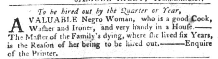 Nov 24 - South-Carolina Gazette and Country Journal Slavery 4