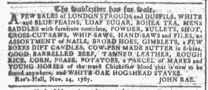 Nov 25 - 11:25:1767 Georgia Gazette