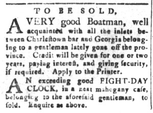 Nov 27 - South-Carolina and American General Gazette Slavery 4