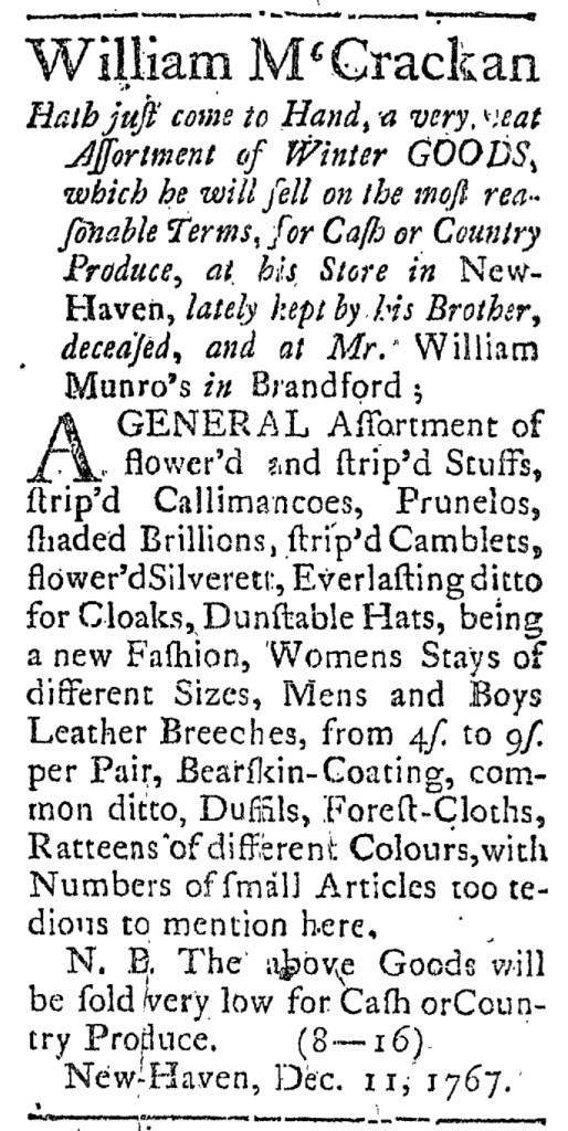 Dec 25 - 12:25:1767 Connecticut Journal
