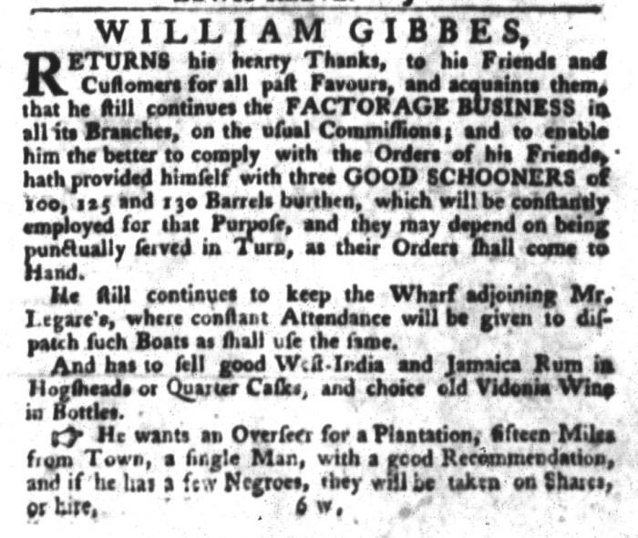 Dec 8 - South-Carolina Gazette and Country Journal Slavery 8