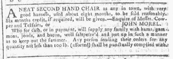 Dec 9 - 12:9:1767 Georgia Gazette