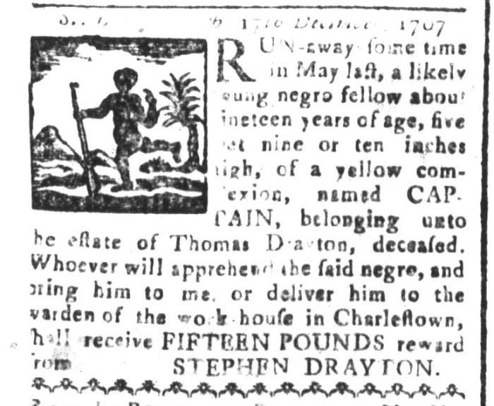 Jan 1 - South-Carolina and American General Gazette Slavery 1