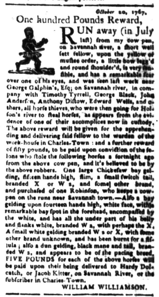 Feb 1 - South Carolina Gazette Slavery 5