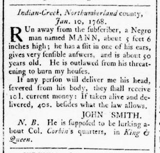 Feb 4 - Virginia Gazette Rind Slavery 3