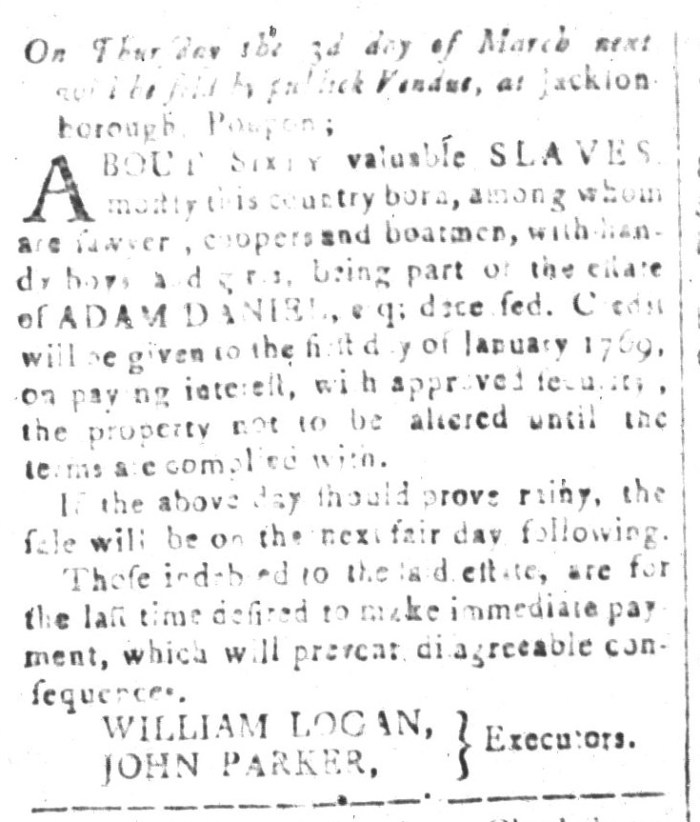 Feb 5 - South-Carolina and American General Gazette Slavery 10