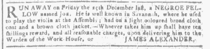 Jan 13 - Georgia Gazette Slavery 2