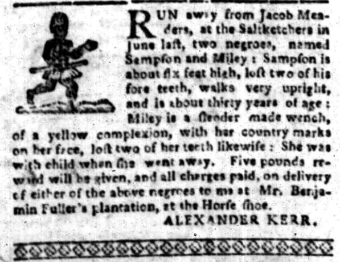 Jan 18 - South Carolina Gazette Slavery 2