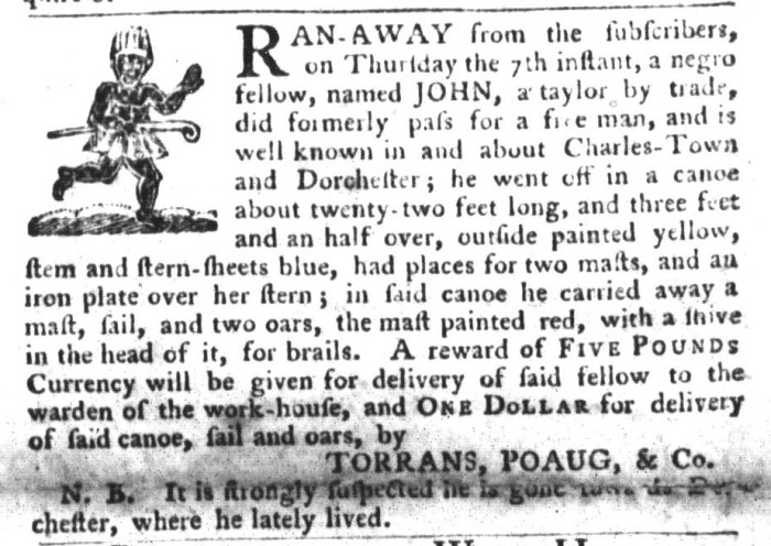 Jan 19 - South-Carolina Gazette and Country Journal Slavery 13