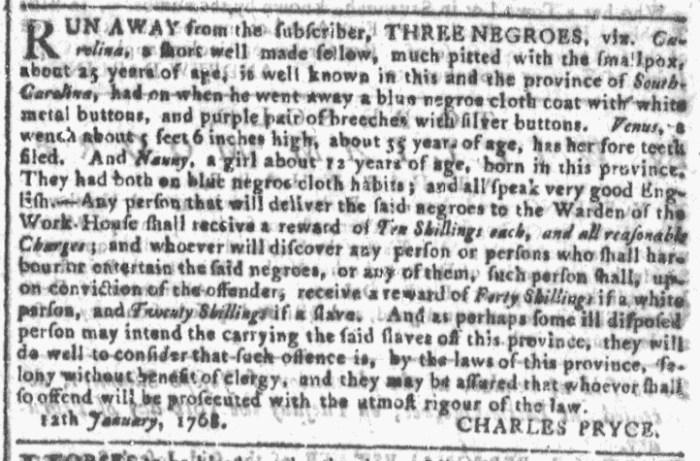 Jan 20 - Georgia Gazette Slavery 2