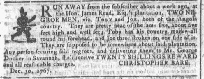 Jan 20 - Georgia Gazette Slavery 3