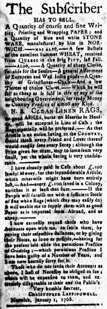 Jan 22 - 1:22:1768 New-London Gazette