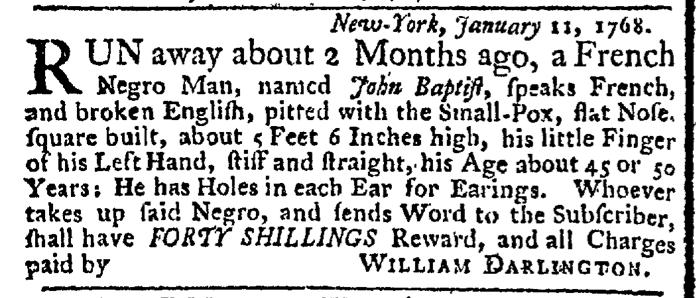 Jan 25 - New-York Gazette Weekly Post-Boy Slavery 1