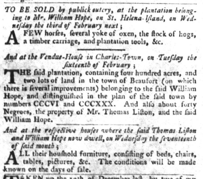 Jan 26 - South-Carolina Gazette and Country Journal Slavery 1