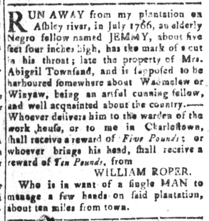 Jan 29 - South-Carolina and American General Gazette Slavery 16