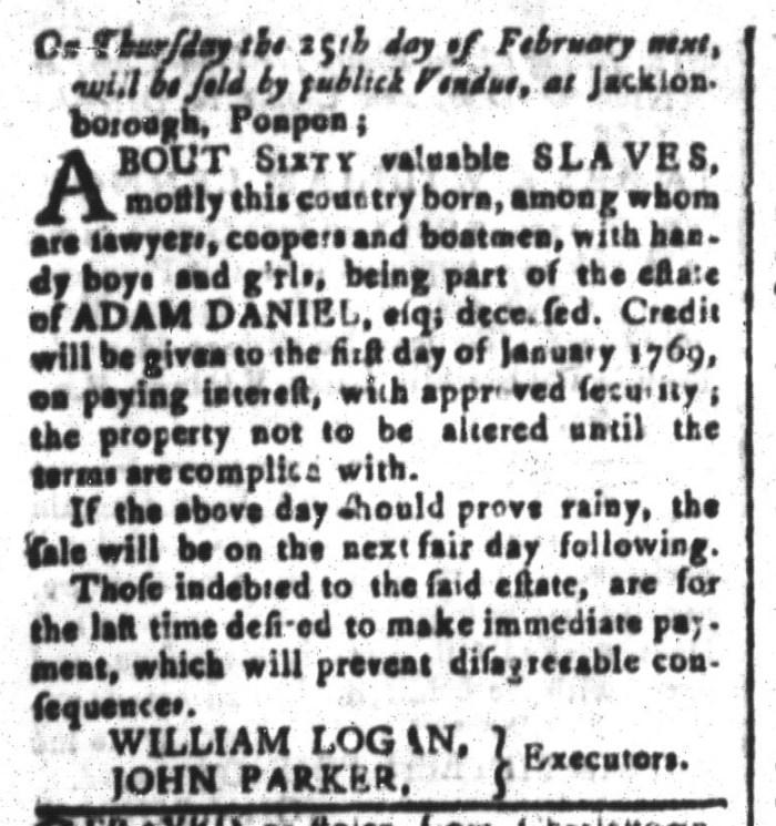 Jan 29 - South-Carolina and American General Gazette Slavery 7