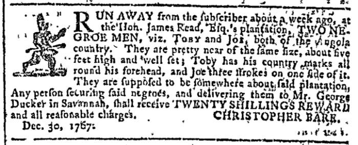 Jan 6 - Georgia Gazette Slavery 6