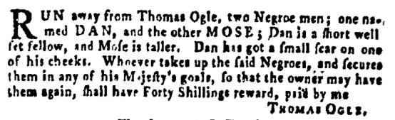 Jan 7 - Pennsylvania Gazette Supplement Slavery 1