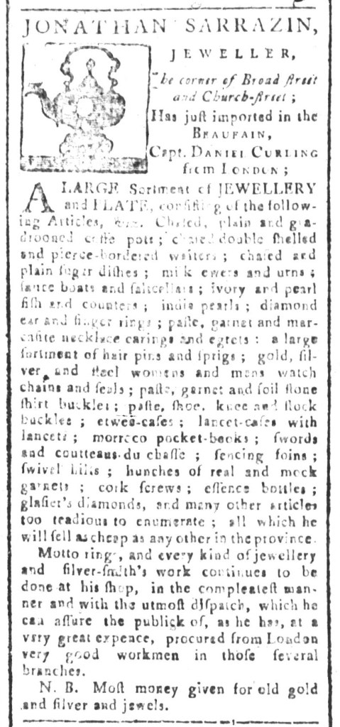 Jan 8 - 1:8:1768 South-Carolina and American General Gazette