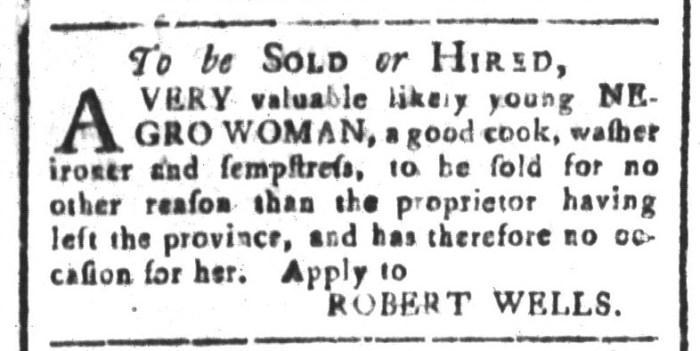 Jan 8 - South-Carolina and American General Gazette Slavery 12
