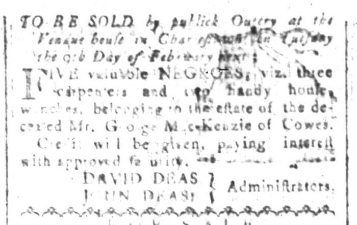 Jan 8 - South-Carolina and American General Gazette Slavery 5