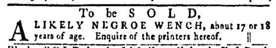 Feb 11 - Pennsylvania Gazette Slavery 1