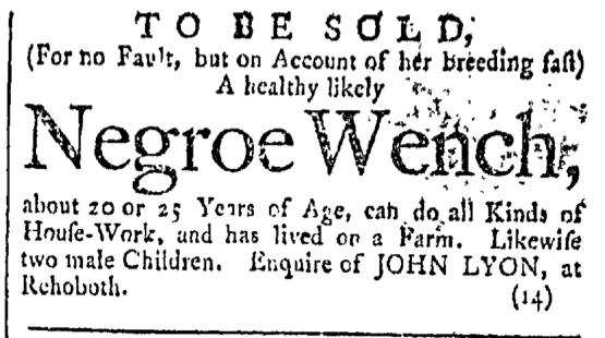Feb 13 - Providence Gazette Slavery 1