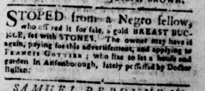 Feb 15 - South Carolina Gazette Slavery 4