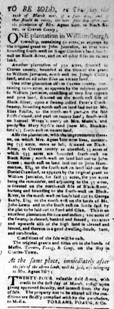 Feb 15 - South Carolina Gazette Slavery 6