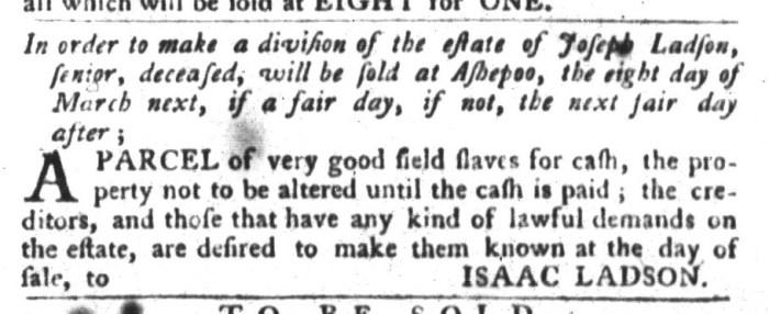 Feb 16 - South-Carolina Gazette and Country Journal Slavery 4
