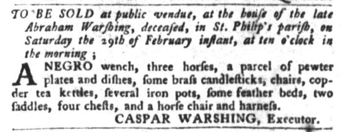 Feb 16 - South-Carolina Gazette and Country Journal Slavery 5